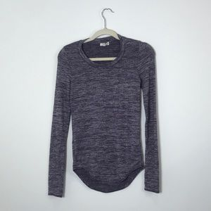 Wilfred Free | Purple Gray Long Sleeve | Small